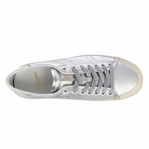 Saint Laurent Silver Low Top Sneakers